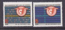 Germany DDR 1147-48 MNH OG 1969 UFI Congress at Leipzig Set Very Fine