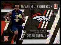 2017 UNPARALLELED DE'ANGELO HENDERSON RC DENVER BRONCOS #296