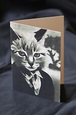 Cat Greeting Card - Pet, Cat in Clothes, Gothic, PopArt, Art Cards