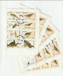 1974 Nagaland, Birds, СТО, 5 mini sheet
