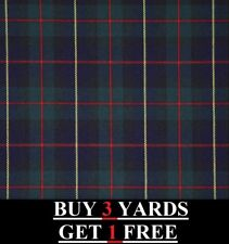 Genuine Robertson Hunting Red Green Blue Tartan Plaid Poly-viscose Dress Fabric