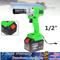 "Cordless Impact Wrench-Tool 1/2"" Brushless Electric Impact Wrench High Torque US"