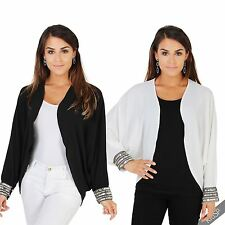 Polyester Patternless Shrug Coats & Jackets for Women
