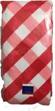Patriotic Table Cloth  54 x 90 Polyethylene Plaids Red White 4 July New