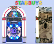 Jukebox Stereo CD Player AM FM Radio 30 pin iPod Dock MP3 Lights 3.5mm Jack