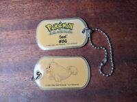 Pokemon Metal Dog Tag Dogtag lot of 2 Seel 86 Nintendo Seal key chain 1995 1998