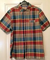 Mens Mantaray Blue Red Grey Check Short Sleeve Shirt Size M B22