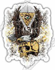 "Eye of Providence Illuminati 13 Gift Idea Car Bumper Vinyl Sticker Decal 4""X5"""