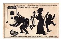 VAN STAN'S STRATENA*CEMENT*GLUE*SILHOUETTE VICTORIAN TRADE CARD*MAN STUCK CHAIR