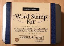 MAGNETIC POETRY WORD STAMP KIT w/ Magnetic Mounting For Making Rubber Stamps