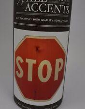 """Red Stop Sign Wall Decal Art Sticker 12"""" Repositional New Kids Teen #187"""