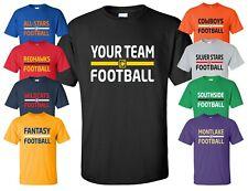 Custom Football T-Shirt w/ YOUR TEAM NAME fantasy practice league jersey parents