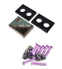 "Cal 7 1.5"" Hardware Purple + 1/4"" Riser Pads"
