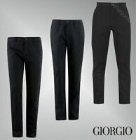 Mens Giorgio Cotton Button Fastening Formal Trousers Sizes Waist from 30 to 38