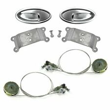 "Door Handle ""Swish"" Lever Kit with Cable and Pulley System (Pair) custom"