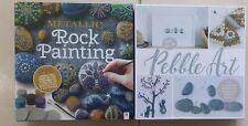 ✅Rock Pebble Craft Sets - Metallic Rock and Pebble Art two full sets new