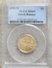 1995W Olympic Torch Runner $5 Gold Coin MS 69