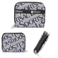 LeSportsac Zip Around Wallet Credit Card Organizer Holder Coin Purse Logo