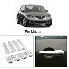 Chrome Door Handle Trim Covers Set For Mazda 2 3 5 6 CX7 CX9 RX8 Lincoln MKZ