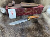 "Muela ""Harrier"" Beech Wood Fixed Blade Knife With Leather Sheath Mint  Box 18R"