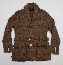 Polo Ralph Lauren Men Tweed Norfolk Hunting Knit Sweater Blazer Cardigan Jacket