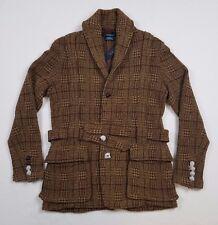 Polo Ralph Lauren Men Tweed Norfolk Hunting Knit Sweater Blazer Cardigan Jacket