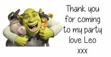 Personalised  Shrek's Party Stickers Party Bag Labels Favours Sweet Cones