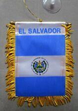 "El Salvador Flag, Mini Banner For Car , 4""x 6"", Suction Cup, Window, Rear/Front"