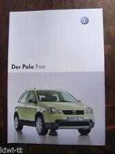 Volkswagen Polo Fun Prospekt (+Preisliste) /Brochure + Price-list, D, 5.2004