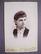 Vintage Cabinet Card Victorian View Photo of Woman by A.P Drew Dover, N.H..