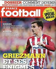 FRANCE FOOTBALL N°3666 02/08/2016 GRIEZMANN/ GIRARD/VALBUENA/ AURIER/DEVENIR PRO
