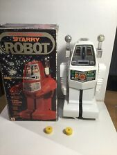 Vintage Robot Starry Robot Working Within Its Original Box