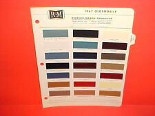 1967 OLDSMOBILE TORONADO 88 98 CUTLASS SUPREME 442 CONVERTIBLE F-85 PAINT CHIPS