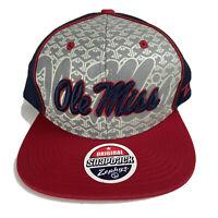 Mississippi Ole Miss Rebels Zephyr Snapback Hat Mens Adjustable One Size