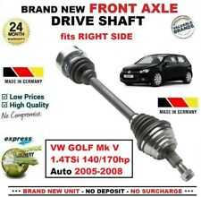 Para VW Golf Mk V 1.4TSi 140/170hp Auto 2005-2008 Nuevo Eje Delantero Derecho