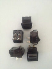 5 ON/OFF Noir Rocker Switch 4 Pin part number 199-144