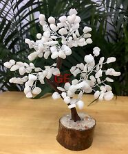 "8"" White King Quartz Tree Gemstone Crystal Gem Tree Feng Shui Luck Reiki Gift."