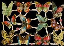 German Victorian Style Scrap Die Cut -  Flying Butterflies / Moths    EF7408
