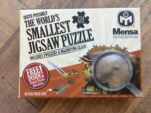 (Possibly) World's Smallest Jigsaw Puzzle Mensa New Boxed Brain Teaser