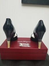 Salvatore Ferragamo Black High Heels Women Shoes Size 10 1/2