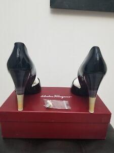 Salvatore Ferragamo Black High Heels Women Shoes Size 10 1/2