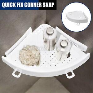 Bathroom Triangular Shower Shelf Corner Bath Storage Soap Holder Organizer Rack