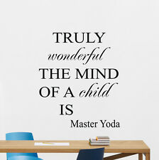 Star Wars Wall Decal Jedi Yoda Quote Vinyl Sticker Movie Art Poster Decor 145crt