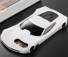 Estuche Funda Caja Carro Americano de Carrera Blanco Para Apple iPhone 7 Plus