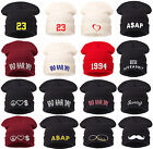 Mens Ladies Knitted Woolly Winter 23 Oversized Slouch Beanie Hat Cap skateboard