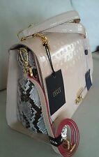 NWT~ ARCADIA ~Italy ~SATCHEL/TOTE/SHOULDERBAG - Beige, Cream Patent Leather
