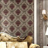3D Style European Damask PVC Wallpaper Luxury Golden Floral Living Room Bedroom