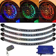 LEDGLOW 4pc MILLION COLOR FLEXIBLE WIRELESS LED WHEEL WELL LIGHT KIT - LU-W01