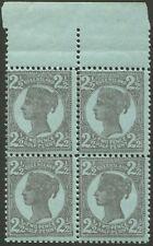 Queensland: 1908 (SG.239) 2½d Slate on blue, marginal block (4)