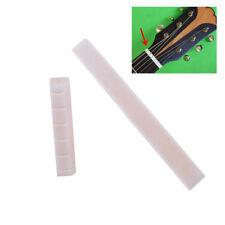 2 Stk Weiß Buffalo 6 Knochen Sattel Saddle Brücke Nut Steg Für Klassik Gitarren